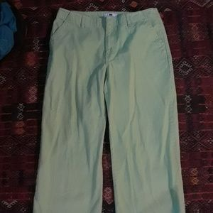 Gap lime green pants sz 10